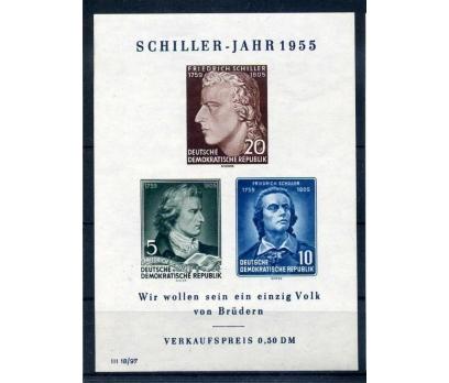 DDR  ** 1955 SCHILLER BLOK  SÜPER(M)