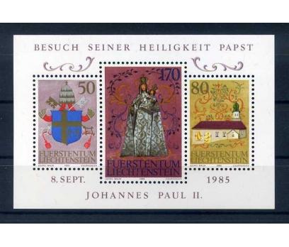 LIECHTENSTEIN **  1985 PAPA II PAUL ZİY BLOK SÜPER