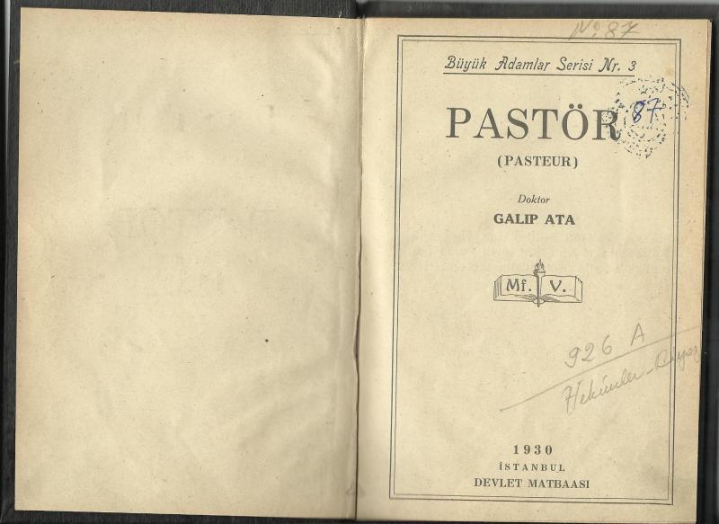 PASTÖR KİTABI 1