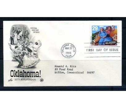 ABD FDC 1993 MÜZİKAL OKLAHOMA 50.YIL SÜPER