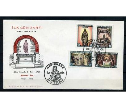 CUMH.FDC  1962 MERYEM ANA & EFES  SÜPER 1