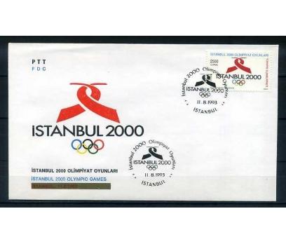 CUMH.FDC 1993 İSTANBUL 2000 OLİMPİYAT  SÜPER