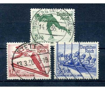 REİCH  1935 DAMGALI  KIŞ OLİMPİYATLARI TAM S SÜPER