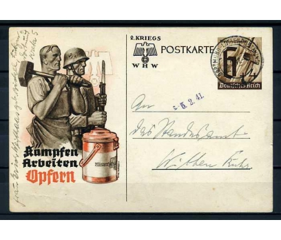 REİCH  1941 ÇALIŞMA TEMALI DAMGALI ANTİYE SÜPER