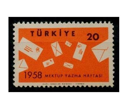 1958 Mektup Yazma Haftası Damgasız**