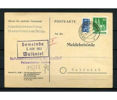 DEUTSCHE POST 1951 KLASİK P.G. POSTA KARTI SÜPER