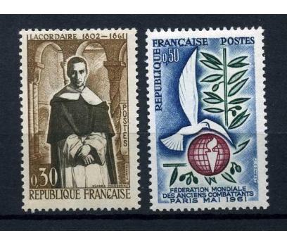 FRANSA ** 1961 2 TAM SERİ SÜPER (220515)