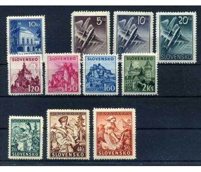 SLOVAKYA ŞARNİYERLİ 1939-41  KLASİK 4 TAM S. SÜPER