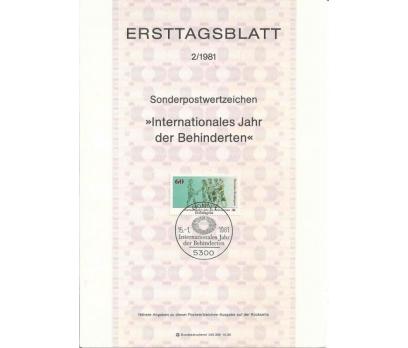 Almanya ETB 02 - 1981 Engelliler Yılı