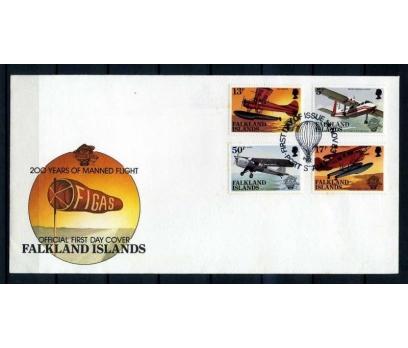FALKLAND AD. 1983 FDC UÇAKLAR  SÜPER(YZ-2)