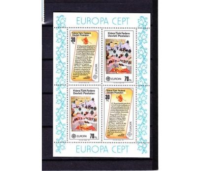 1982 Kıbrıs Europa CEPT Turkey Blok Damgasız**
