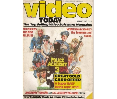 VİDEO TODAY JAN.1987 YABANCI SİNEMA DERGİSİ
