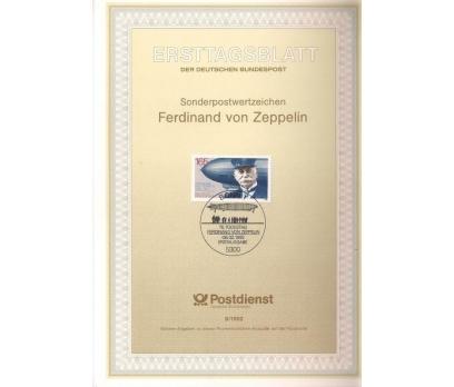 Almanya ETB 08-1992 Ferdinand von Zeppelin