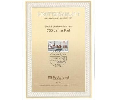 Almanya ETB 09-1992 Kiel 750 Yılı