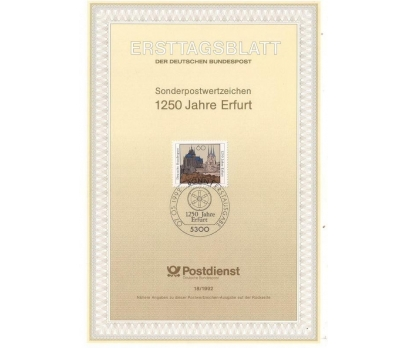 Almanya ETB 18-1992 1250 Jahre Erfurt