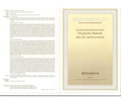 Almanya ETB 27-1994 Deutsche 20. yüzyıl Ressamlık