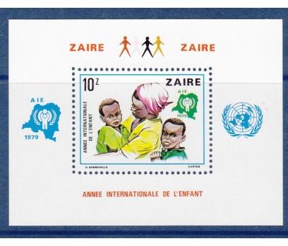 1979 Kongo Zaire Çocuk Yılı Blok Damgasız**