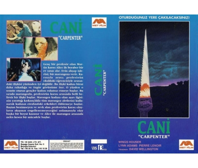 CANİ CARPENTER VHS-BETA KASET KUTU KAPAĞI COVER