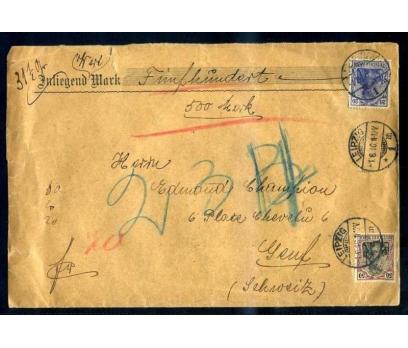 REICH  1916 İSVİÇRE'YE GİTMİŞ DEĞERLİ MUMLANM