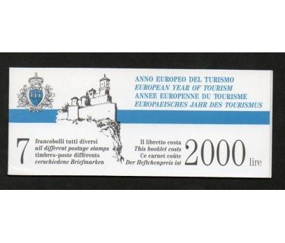 1990 San Marino Turizm Booklet Damgasız**