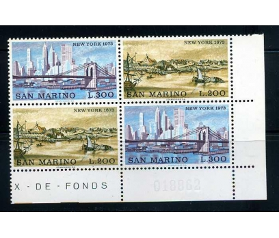SAN MARİNO ** 1973 NEW YORK 1673 TAM S.PER SÜPER