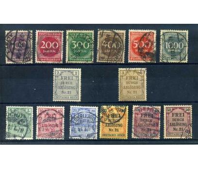 REICH  1923-1903 DAMGALI DİENST. 2 TAM SERİ SÜPER