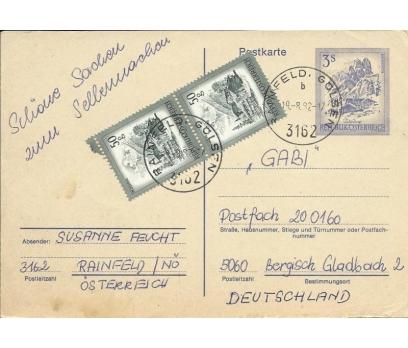 AVUSTURYA 1982 DAMGALI POSTA KARTI  2