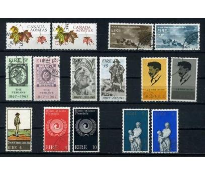 İRLANDA 1969-71 DAMGALI 8 TAM SERİ  SÜPER