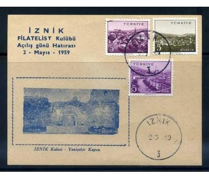 CUMH.FDC 1959  İZNİK FD'NİN AÇILIŞ GÜNÜ (290415)