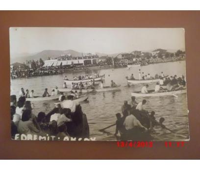 1963 EDREMİT - AKÇAY PLAJI / DAMGALI KARTPOSTAL