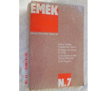 EMEK DERGİSİ/ SOSYALİZM TEORİ PRATİK/TEMMUZ 1989