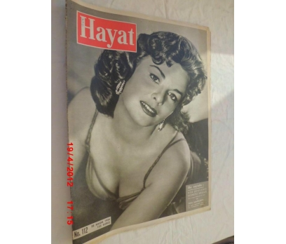 HAYAT DERGİSİ 1958 SAYI 112 ANNE HEYWOOD