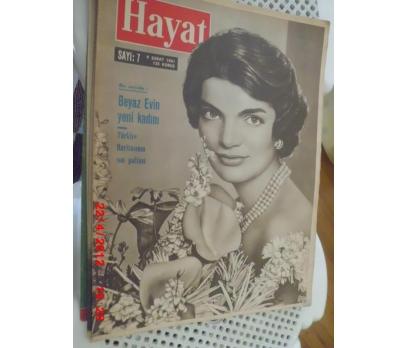 HAYAT DERGİSİ 1961 SAYI 7 JACKIE ONASSIS