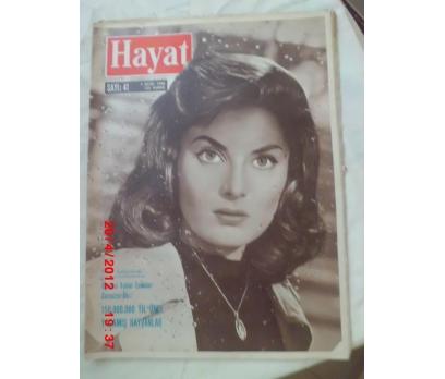 HAYAT DERGİSİ 7 EKİM 1960 SAYI 41 BELİNDA LEE