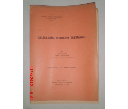 İTÜ ÇELİKLERİN MODERN TRETMANI -Y.M.ARAM ERSÜMER