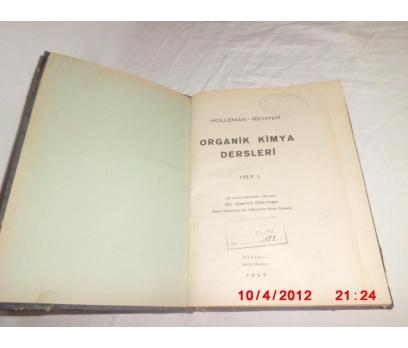 ORGANİK KİMYA  - HOLLEMAN / RICHTER - 1947/ TÜRKÇE