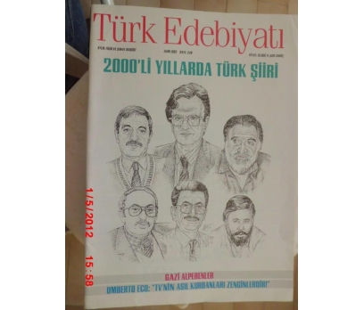 TÜRK EDEBİYATI DERGİSİ - EKİM 1993 SAYI 240