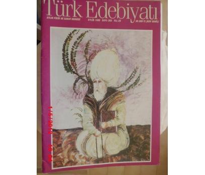 TÜRK EDEBİYATI DERGİSİ - EYLÜL 1995 SAYI 263