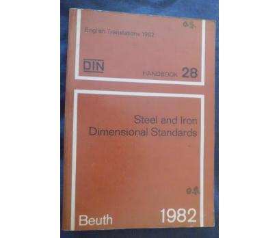 DIN 28 /STEEL AND IRON DIAMENSIONAL STANDARTS 1982