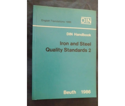 DIN /STEEL AND IRON QUALITY STANDARDS 2 BEUTH 1986