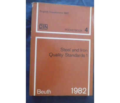 DIN /STEEL AND IRON QUALITY STANDARTS 1 BEUTH 1982