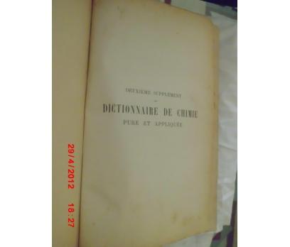 DICTIONNAIRE DE CHIMIE I - PLU / 1907 HACHETTE
