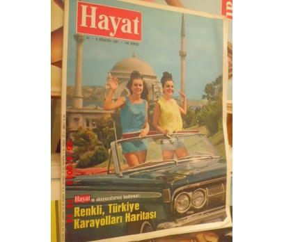 HAYAT DERGİ 1967 SAYI 32 ÜSTÜ AÇIK ARABADA KIZLAR