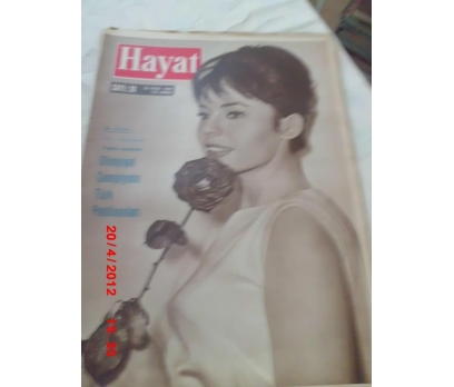 HAYAT DERGİSİ 1960 SAYI 39 PASCALE PETIT