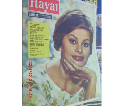 HAYAT DERGİSİ 1962 SAYI 34 SOPHIA LOREN