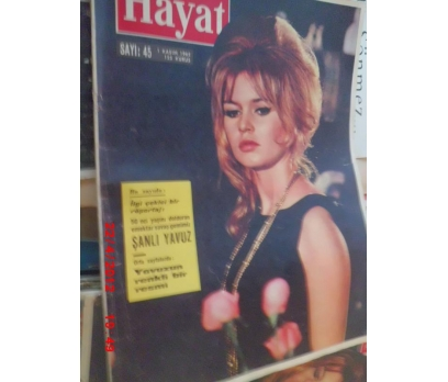 HAYAT DERGİSİ 1962 SAYI 45 BRIGITTE BARDOT