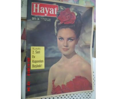 HAYAT DERGİSİ 1964 SAYI 34 NORMA FOSTER