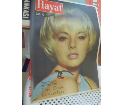 HAYAT DERGİSİ 1964 SAYI 43 SOPHIA HARDY