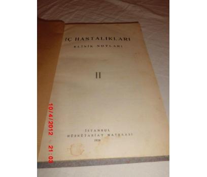 İÇ HASTALIKLARI KLİNİK NOTLARI 2 - 1939