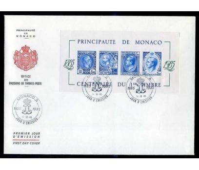 MONAKO  FDC 1985 MONAKO' DA PULUN 100.YILI BL